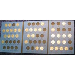 209. 1938-61 Partial Set of Jefferson Nickels in a blue Whitman folder. (36 pcs.)
