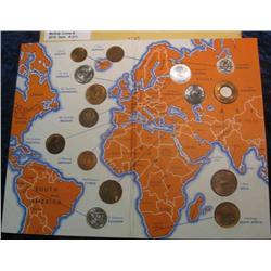 """211. General Mills """"Wheaties"""" Coin Set of 15 pc. International Coin Collection. Most are BU."""