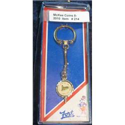 214. 1911-1985 Craig Iowa Jubilee Celebration Key ring. New in box.