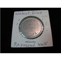 942. Raymond Wolf, Walnut, Iowa, Good for 50c in Trade.