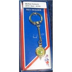 215. 1888-1988 Cummings Iowa Centennial Key ring. New in box.