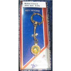 216. 1887-1987 Hawarden Iowa Centennial Key ring. New in box.