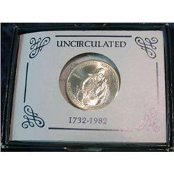 227. 1732-1982 D George Washington 90% Silver Commemorative Half Dollar. Gem BU.