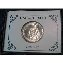 228. 1732-1982 D George Washington 90% Silver Commemorative Half Dollar. Gem BU.