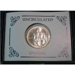 229. 1732-1982 D George Washington 90% Silver Commemorative Half Dollar. Gem BU.