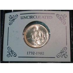 230. 1732-1982 D George Washington 90% Silver Commemorative Half Dollar. Gem BU.