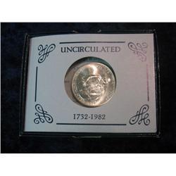 231. 1732-1982 D George Washington 90% Silver Commemorative Half Dollar. Gem BU.