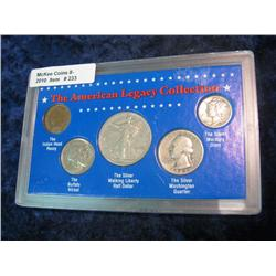 """233. """"The American Legacy Collection"""" 5-Pc. Set of U.S. Coins. Includes 1906 Indian Cent;"""