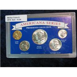"""234. """"Americana Series President's Collection""""  5-Pc. Set of U.S. Coins. Includes 1964 dated"""