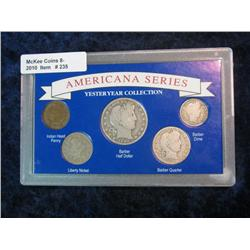 """235. """"Americana Series Yesteryear Collection"""" Set of U.S. Coins. Includes 1908 Indian Cent;"""