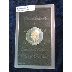 236. 1974 S Silver Proof Eisenhower Dollar in plastic case as issued.