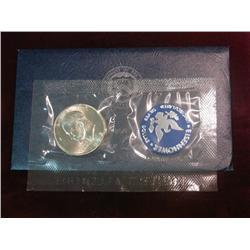 238. 1972 S Silver Eisenhower Dollar in original blue pack. Gem BU.