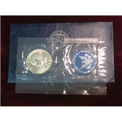 239. 1974 S Silver Eisenhower Dollar in original blue pack. Gem BU.