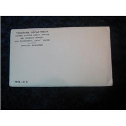 259. 1968 U.S. Silver Mint Set. Original as issued.