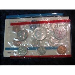 260. 1969 U.S. Silver Mint Set. Original as issued.
