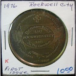 1976 Rockwell City Iowa Centennial US Bicentennial Collector Coin