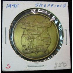 1052. 1875-1975 Sheffield, Iowa Centennial Bronze Medal.
