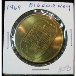 1055. 1844-1969 Sigourney, Iowa. Bronze