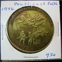 1059. 1776-1976 Southeast Polk, US Bicentennial Medal.