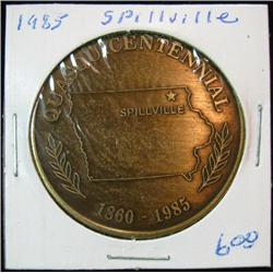 1061. 1860-1985 Spillville, Iowa, Quasquicentennial Bronze Medal.