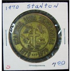 1063. 1870-1970 Stanton, Iowa, Bronze Centennial Medal.