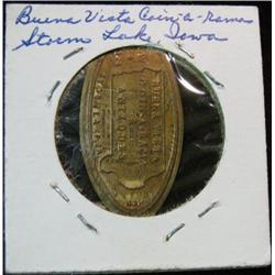 1065. 1989 Buena Vista Coin-a-rama Storm Lake Iowa Elongated Cent.