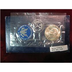 297. 1971 S Eisenhower Silver Dollar in original blue pack. Gem BU.