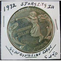 1067. 1972 Story City, Iowa, Scandinavian Days Nickel Medal.
