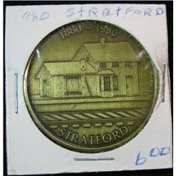 1068. 1880-1980 Stratford, Iowa, Historical Society Bronze Medal.