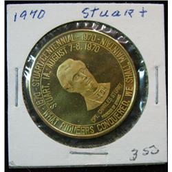 1069. 1870-1970 Stuart, Iowa, Centennial Bronze Medal.