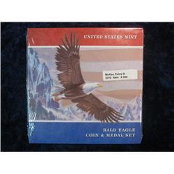 300. 2008 Bald Eagle Silver Dollar & Medal Set in original government issued holder.