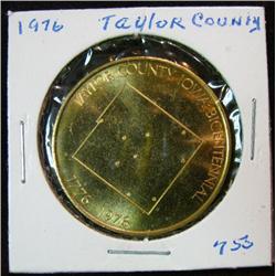 1072. 1776-1976 Taylor County, US Bicentennial Bronze Medal.