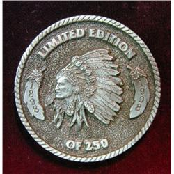 1078. 1898-1998 Titonka, Iowa, Limited Edition White Metal Medallion.