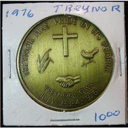 1080. 1776-1976 Treynor, Iowa, US Bicentennial Brass Medal.