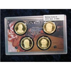 1083. 2009S 4-Coin Proof Set President Dollars. In Original Plastic No Box.
