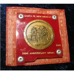 "1087. 1610-1960 Santa Fe, New Mexico Large 2 1/2"" Bronze Medal."