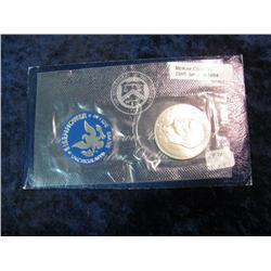 1094. 1971S Silver BU Eisenhower Dollar. Original as Issued.