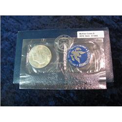 1095. 1971S Silver BU Eisenhower Dollar. Original as Issued.