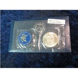 1096. 1971S Silver BU Eisenhower Dollar. Original as Issued.