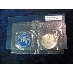 1097. 1971S Silver BU Eisenhower Dollar. Original as Issued.