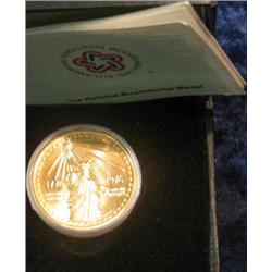 328. 1776-1976 National Bicentennial Medal in original case. Depicts Statue of Liberty.