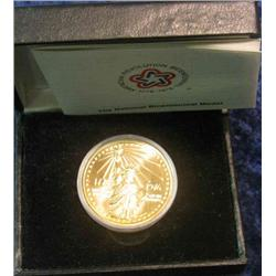 329. 1776-1976 National Bicentennial Medal in original case. Depicts Statue of Liberty.