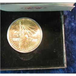 334. 1776-1976 National Bicentennial Medal in original case. Depicts Statue of Liberty.