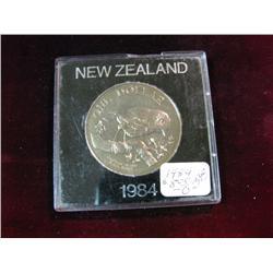 1139. 1984 New Zealand Dollar Coin. BU.