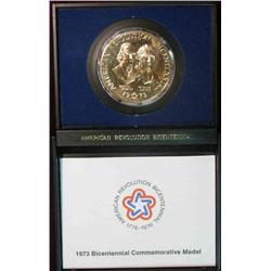 347. 1973 Bicentennial Commemorative Medal. Brass. BU. In special case of issue.