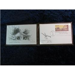 1665. 1837-1987 John Deere First Day Cover in Leather bound folder.