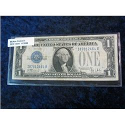 "1686. Series 1928B $1 Silver Certificate ""Funny Back"". VG."