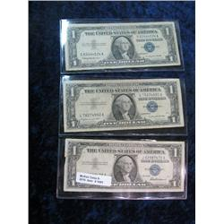 1693. Series 1957, 57A, & 57B $1 Silver Certificates. VG-F