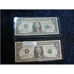 1697. Series 2003 & 2006 Where's George.Com $1 Federal Reserve Note