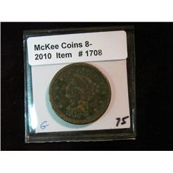 1708. 1856 U.S. Large Cent. G-4.